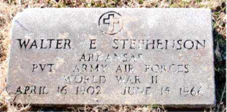 STEPHENSON (VETERAN WWII), WALTER E. - Carroll County, Arkansas | WALTER E. STEPHENSON (VETERAN WWII) - Arkansas Gravestone Photos