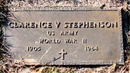 STEPHENSON  (VETERAN WWII), CLARENCE  V - Carroll County, Arkansas   CLARENCE  V STEPHENSON  (VETERAN WWII) - Arkansas Gravestone Photos