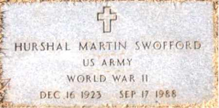 SWOFFORD (VETERAN WWII), HURSHAL MARTIN - Carroll County, Arkansas | HURSHAL MARTIN SWOFFORD (VETERAN WWII) - Arkansas Gravestone Photos