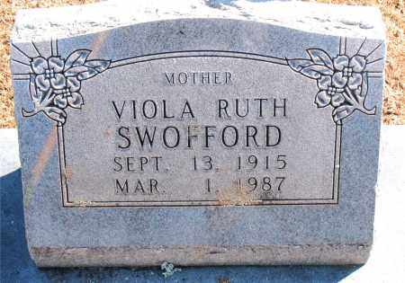 SWOFFORD, VIOLA  RUTH - Carroll County, Arkansas | VIOLA  RUTH SWOFFORD - Arkansas Gravestone Photos
