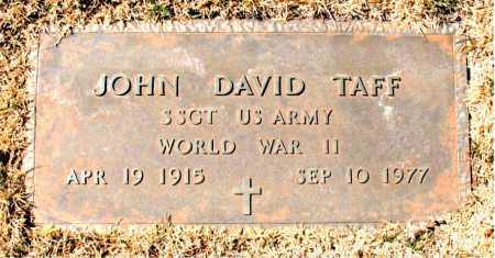 TAFF (VETERAN WWII), JOHN DAVID - Carroll County, Arkansas | JOHN DAVID TAFF (VETERAN WWII) - Arkansas Gravestone Photos