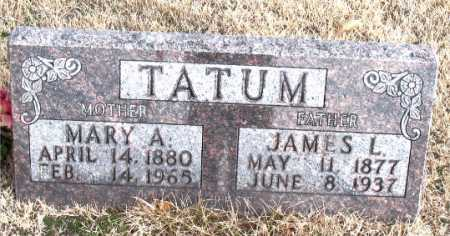 TATUM, MARY A - Carroll County, Arkansas | MARY A TATUM - Arkansas Gravestone Photos