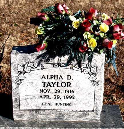 TAYLOR, ALPHA D. - Carroll County, Arkansas | ALPHA D. TAYLOR - Arkansas Gravestone Photos