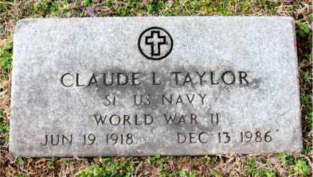 TAYLOR (VETERAN WWII), CLAUDE L. - Carroll County, Arkansas | CLAUDE L. TAYLOR (VETERAN WWII) - Arkansas Gravestone Photos