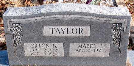 TAYLOR, ERTON B. - Carroll County, Arkansas | ERTON B. TAYLOR - Arkansas Gravestone Photos