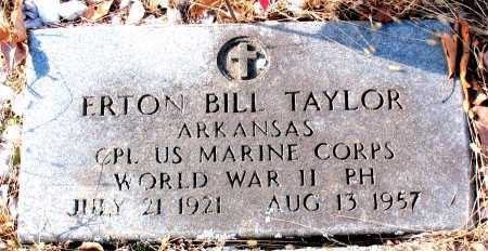 TAYLOR (VETERAN WWII), ERTON BILL - Carroll County, Arkansas | ERTON BILL TAYLOR (VETERAN WWII) - Arkansas Gravestone Photos