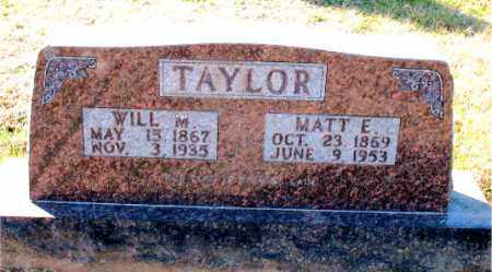 TAYLOR, WILL  M. - Carroll County, Arkansas | WILL  M. TAYLOR - Arkansas Gravestone Photos