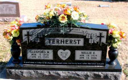 TERHERST, NELLIE E - Carroll County, Arkansas | NELLIE E TERHERST - Arkansas Gravestone Photos
