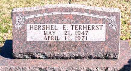 TERHERST, HERSHEL E - Carroll County, Arkansas   HERSHEL E TERHERST - Arkansas Gravestone Photos