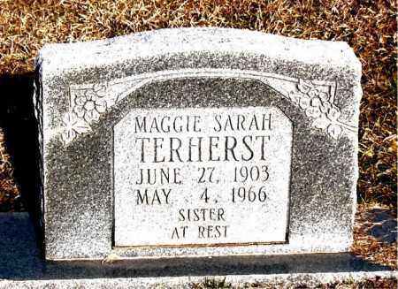 TERHERST, MAGGIE SARAH - Carroll County, Arkansas | MAGGIE SARAH TERHERST - Arkansas Gravestone Photos