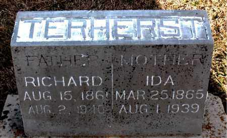 TERHERST, RICHARD - Carroll County, Arkansas | RICHARD TERHERST - Arkansas Gravestone Photos