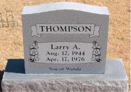 THOMPSON, LARRY  A. - Carroll County, Arkansas | LARRY  A. THOMPSON - Arkansas Gravestone Photos