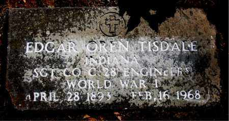 TISDALE (VETERAN WWI), EDGAR OREN - Carroll County, Arkansas | EDGAR OREN TISDALE (VETERAN WWI) - Arkansas Gravestone Photos