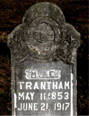 TRANTHAM, M. E. - Carroll County, Arkansas | M. E. TRANTHAM - Arkansas Gravestone Photos
