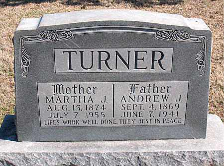 TURNER, ANDREW J - Carroll County, Arkansas | ANDREW J TURNER - Arkansas Gravestone Photos