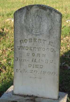 UNDERWOOD, ROBERT E. - Carroll County, Arkansas | ROBERT E. UNDERWOOD - Arkansas Gravestone Photos
