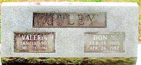 UTLEY, VALERIA - Carroll County, Arkansas | VALERIA UTLEY - Arkansas Gravestone Photos