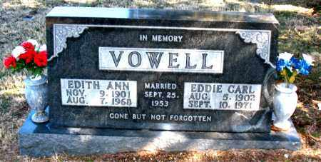 VOWELL, EDITH ANN - Carroll County, Arkansas | EDITH ANN VOWELL - Arkansas Gravestone Photos