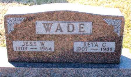 WADE, JESS  W. - Carroll County, Arkansas | JESS  W. WADE - Arkansas Gravestone Photos
