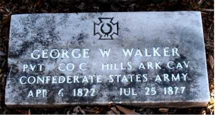 WALKER (VETERAN CSA), GEORGE  W. - Carroll County, Arkansas | GEORGE  W. WALKER (VETERAN CSA) - Arkansas Gravestone Photos
