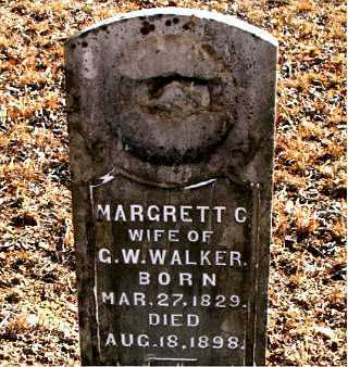 WALKER, MARGRETT  C. - Carroll County, Arkansas | MARGRETT  C. WALKER - Arkansas Gravestone Photos