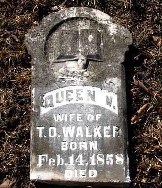 WALKER, QUEEN  V. - Carroll County, Arkansas | QUEEN  V. WALKER - Arkansas Gravestone Photos