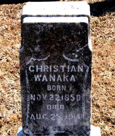 WANAKA, CHRISTIAN - Carroll County, Arkansas | CHRISTIAN WANAKA - Arkansas Gravestone Photos