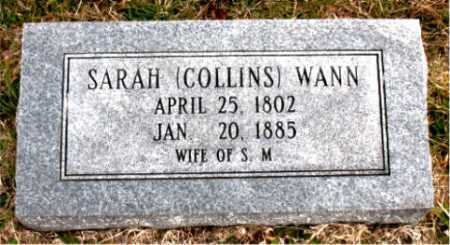 WANN, SARAH - Carroll County, Arkansas | SARAH WANN - Arkansas Gravestone Photos