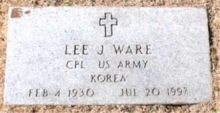 WARE (VETERAN KOR), LEE  J - Carroll County, Arkansas | LEE  J WARE (VETERAN KOR) - Arkansas Gravestone Photos