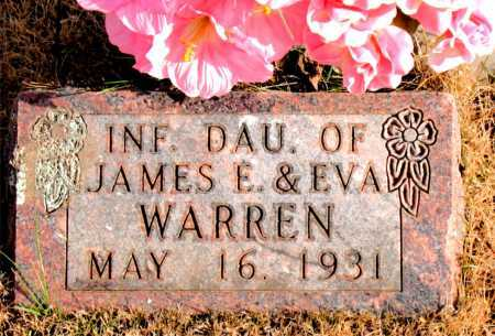 WARREN, INFANT DAUGHTER - Carroll County, Arkansas | INFANT DAUGHTER WARREN - Arkansas Gravestone Photos