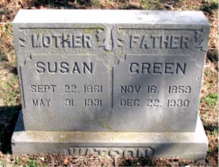 WATSON, GREEN - Carroll County, Arkansas | GREEN WATSON - Arkansas Gravestone Photos