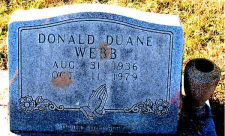 WEBB, DONALD DUANE - Carroll County, Arkansas | DONALD DUANE WEBB - Arkansas Gravestone Photos