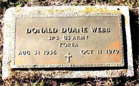 WEBB  (VETERAN KOR), DONALD DUANE - Carroll County, Arkansas | DONALD DUANE WEBB  (VETERAN KOR) - Arkansas Gravestone Photos