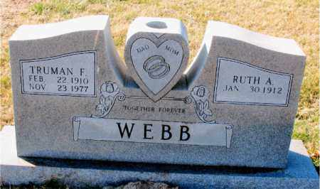WEBB, TRUMAN F. - Carroll County, Arkansas | TRUMAN F. WEBB - Arkansas Gravestone Photos