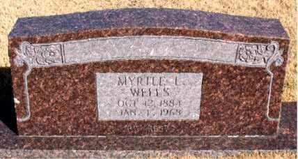 WELLS, MYRTLE L - Carroll County, Arkansas | MYRTLE L WELLS - Arkansas Gravestone Photos