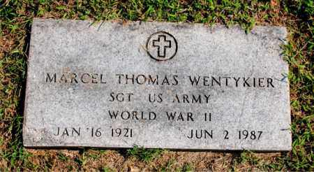 WENTYKIER  (VETERAN WWII), MARCEL THOMAS - Carroll County, Arkansas | MARCEL THOMAS WENTYKIER  (VETERAN WWII) - Arkansas Gravestone Photos