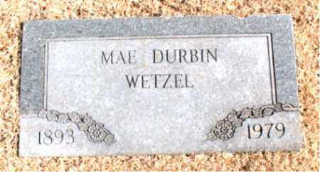 WETZEL, MAE  DURBIN - Carroll County, Arkansas | MAE  DURBIN WETZEL - Arkansas Gravestone Photos