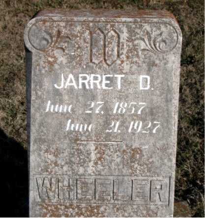 WHEELER, JARRET D. - Carroll County, Arkansas | JARRET D. WHEELER - Arkansas Gravestone Photos