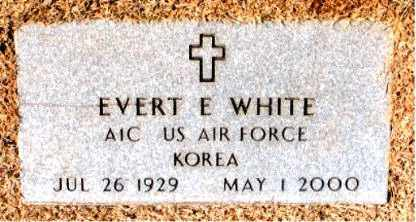 WHITE (VETERAN KOR), EVERT  E - Carroll County, Arkansas | EVERT  E WHITE (VETERAN KOR) - Arkansas Gravestone Photos