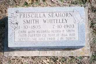 SEAHORN WHITELEY, PRISCILLA SMITH - Carroll County, Arkansas | PRISCILLA SMITH SEAHORN WHITELEY - Arkansas Gravestone Photos