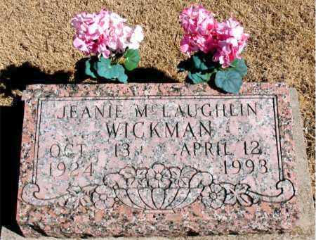 LAUGHLIN WICKMAN, JEANIE M. - Carroll County, Arkansas | JEANIE M. LAUGHLIN WICKMAN - Arkansas Gravestone Photos