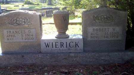 WIERICK, FRANCES D - Carroll County, Arkansas | FRANCES D WIERICK - Arkansas Gravestone Photos