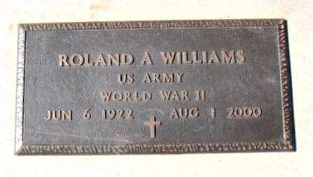WILLIAMS  (VETERAN WWII), ROLAND - Carroll County, Arkansas | ROLAND WILLIAMS  (VETERAN WWII) - Arkansas Gravestone Photos