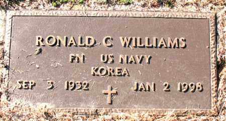 WILLIAMS (VETERAN KOR), RONALD  C. - Carroll County, Arkansas | RONALD  C. WILLIAMS (VETERAN KOR) - Arkansas Gravestone Photos