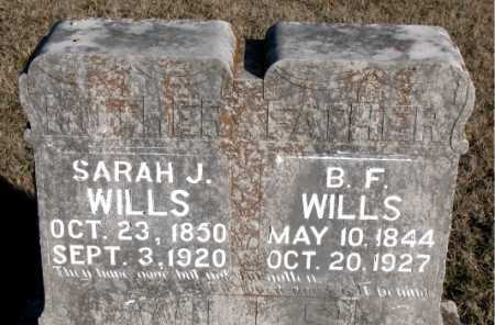WILLS, SARAH J. - Carroll County, Arkansas | SARAH J. WILLS - Arkansas Gravestone Photos