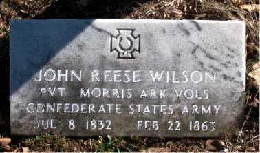 WILSON (VETERAN CSA), JOHN REESE - Carroll County, Arkansas | JOHN REESE WILSON (VETERAN CSA) - Arkansas Gravestone Photos