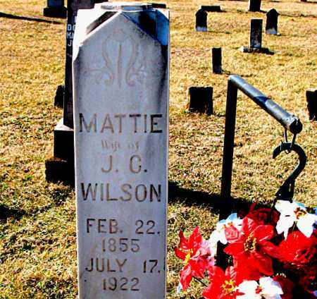 WILSON, MATTIE - Carroll County, Arkansas | MATTIE WILSON - Arkansas Gravestone Photos