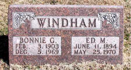 WINDHAM, ED M - Carroll County, Arkansas | ED M WINDHAM - Arkansas Gravestone Photos
