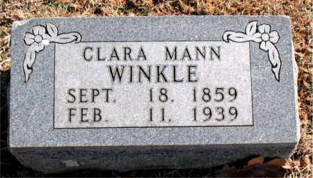 WINKLE, CLARA  MANN - Carroll County, Arkansas | CLARA  MANN WINKLE - Arkansas Gravestone Photos