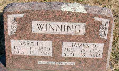 WINNING, SARAH  I. - Carroll County, Arkansas | SARAH  I. WINNING - Arkansas Gravestone Photos